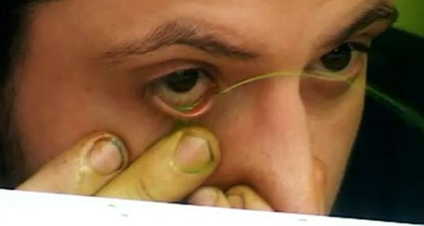 artista argentino pinta con sus ojos